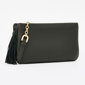 Ann Taylor Double Zip Chain Strap Crossbody Bag